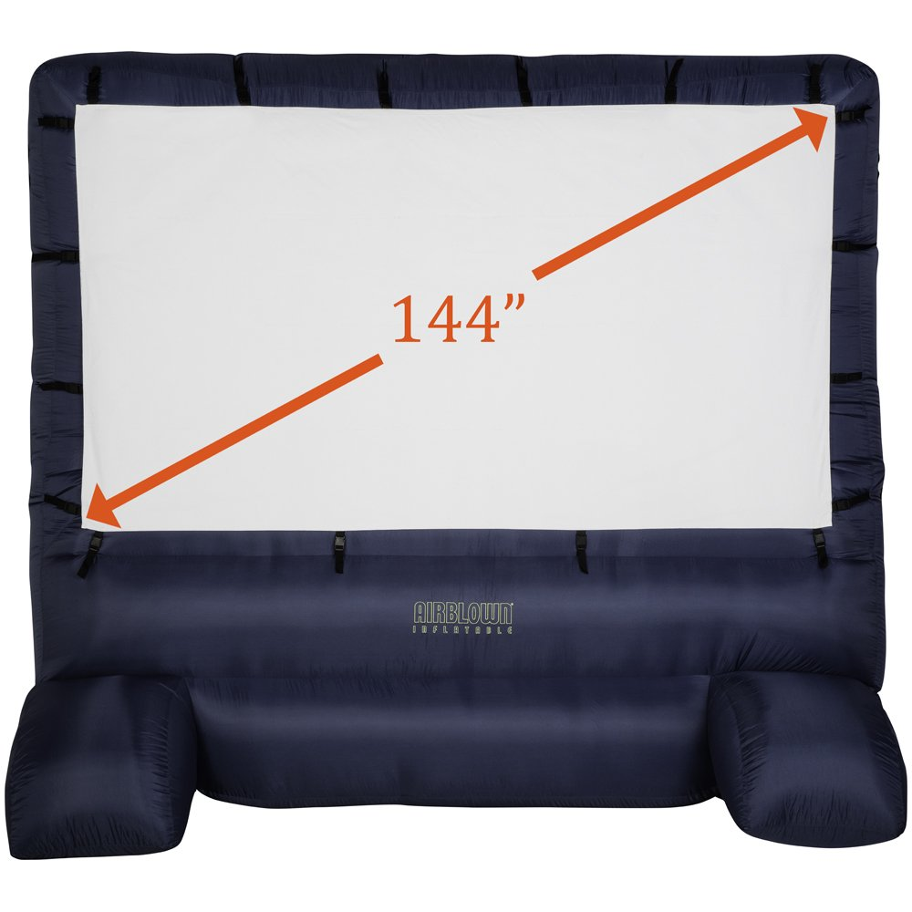 Gemmy 39127-32 Deluxe Airblown Movie Screen Inflatable with Storage Bag, 144'' Screen 12 FT TALL x 11.5 WIDE