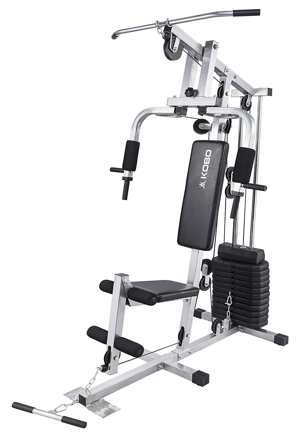 buy kobo mhg 1002 steel multi exercise single station home gym grey rh amazon in multi home gym equipment multi home gym marcy bruce lee