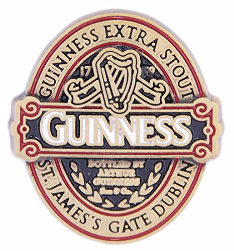 Guinness Metal Lapel Pin With Classic Collection Label Design