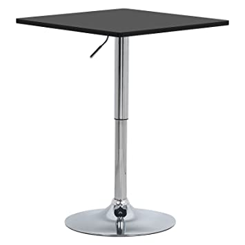 Woltu Bt03sz Table De Bar En Mdf Avec Piedtable Carrée Hauteur