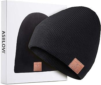 ASIILOVI 5.0 Wireless Bluetooth Winter Warm Knit Hats Cap