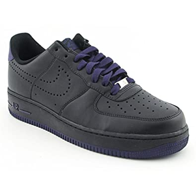 Nike Air Force 1 07 Black Purple Mens Size 13 Model 315122-028 -3456