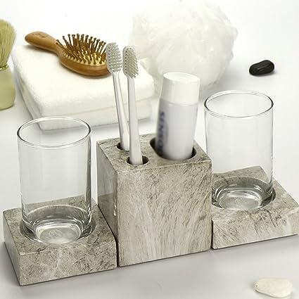 Moderno Minimalista Pareja Wash Brush Cup Lotion Bottle enjuague bucal taza  bandeja conjunto de accesorios de 002eccbdf742