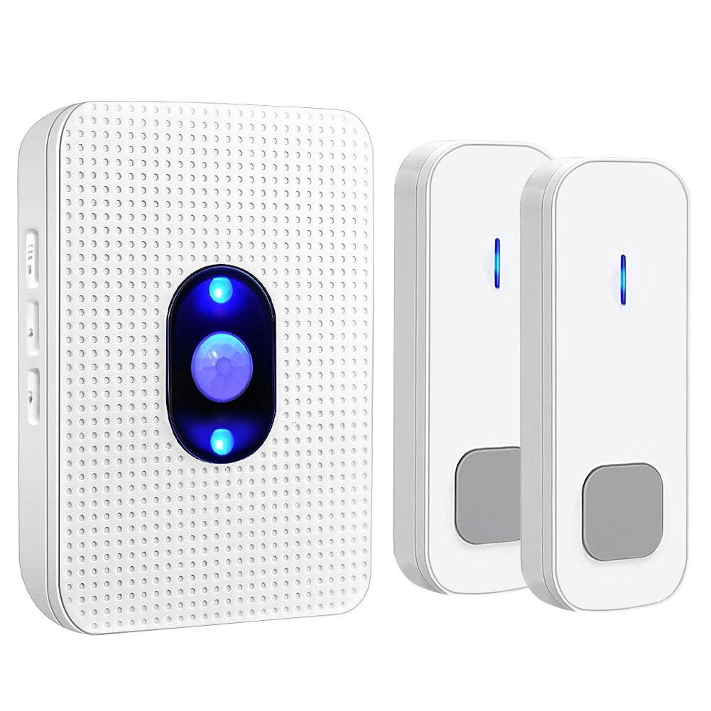 Wireless Doorbell,Waterproof Door Chime Kit(2)