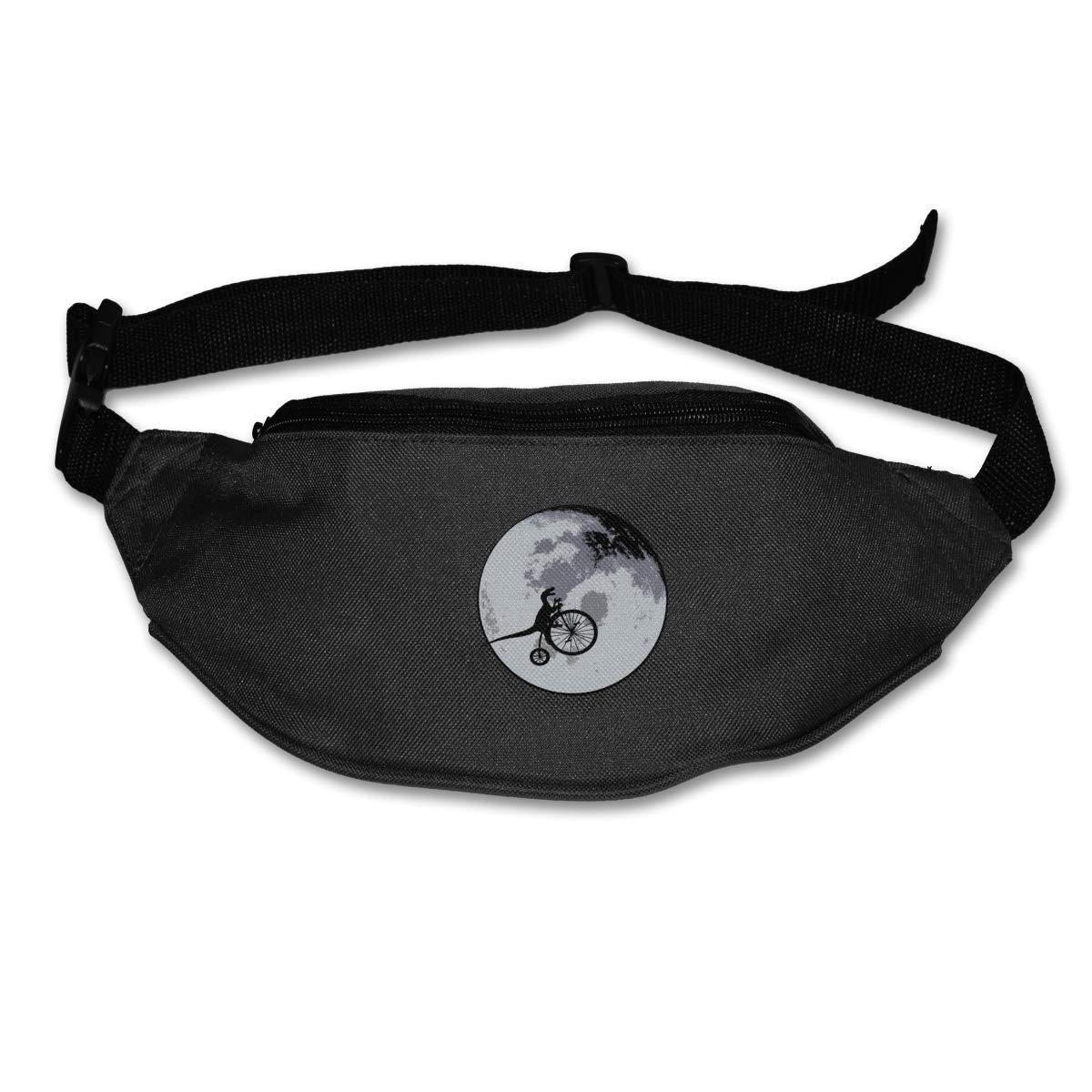 Dinosaur Moon Bike 2 Sport Waist Bag Fanny Pack Adjustable For Hike