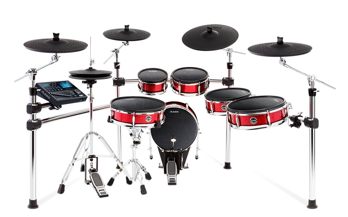 Alesis Strike Pro Kit | Eleven-Piece Professional Electronic Drum Kit with Adjustable Mesh Heads, 110 kits and over 1600 multi-sampled instruments by Alesis
