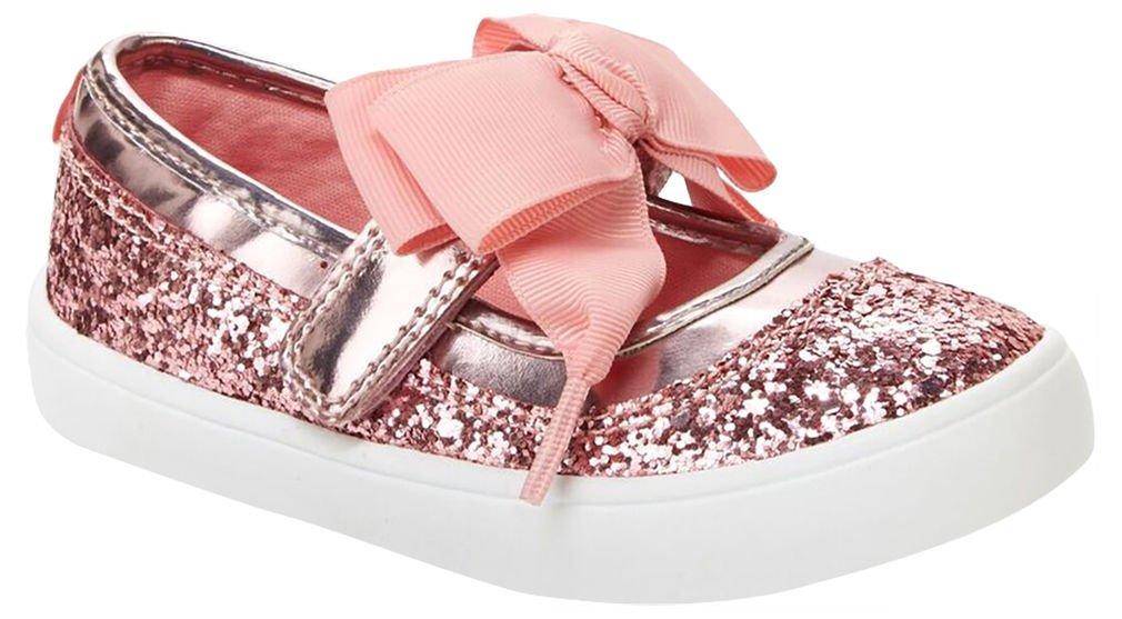 Carter's Girls' Alberta Bow Mary Jane Flat, Pink, 8 M US Toddler