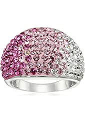 Sterling Silver Pink Dome Swarovski Elements Ring