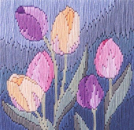 Tulips Long Stitch Kit by Derwentwater Designs by Derwentwater Designs