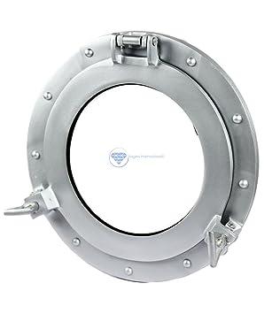 8 Inch Premium Nautical Boat Yacht Round Opening Portlight Porthole Window White
