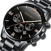 [Patrocinado] kashidun. De los hombres Wrist Watches clásica redonda Casual analógico Fecha Deportes Fans watch-black. zh-jzhg