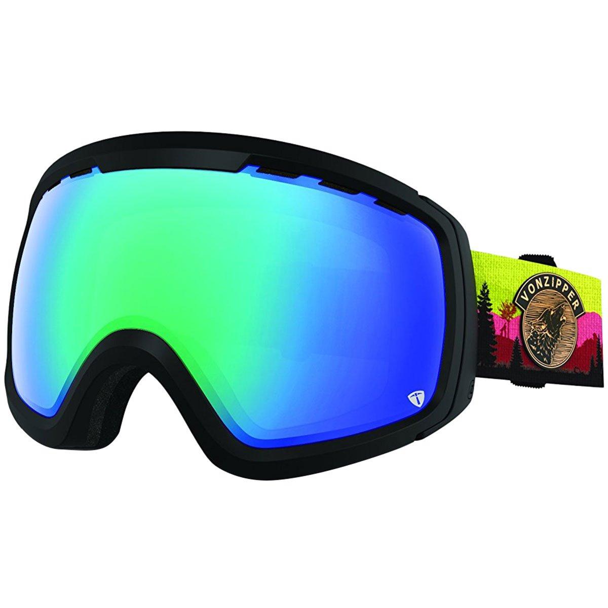 VonZipper Freenom NLS Mens Snow Racing Snowmobile Goggles Eyewear Halldor//Persimmon Chrome//One Size Fits All 5559129883