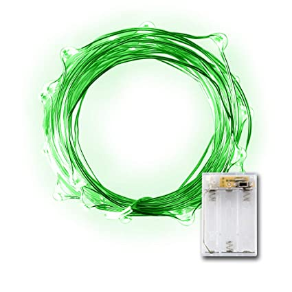 Outstanding Amazon Com 20 Micro Led Green String Lights With Timer Function Wiring Cloud Brecesaoduqqnet