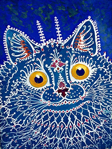 Flekman Art A cat in gothic a pet by Louis Wain Accent Ti...