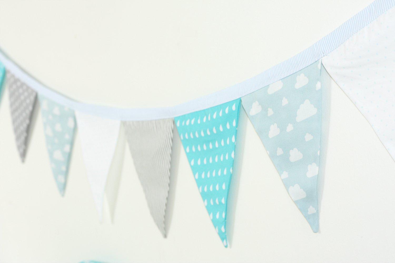 Fabric Garland, Flag Garland, Wall Decoration, Nursery Decoration
