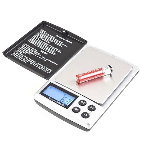 Pantalla LCD de joyería YKS báscula de precisión de bolsillo peso báscula Digital 1 kg 0