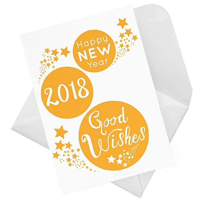 2019 Good Wishes Happy New Year Card (Pick Colour/Single / Multi ...