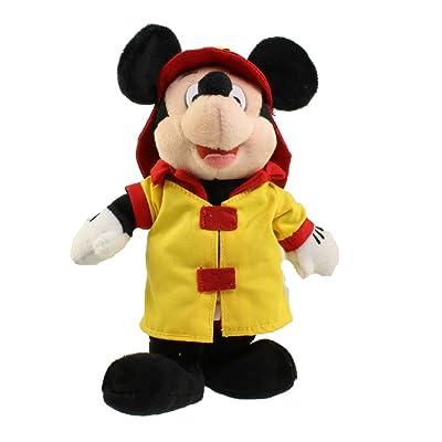 Disney Fireman Mickey Mouse 10? Plush Bean Bag Doll Mint: Toys & Games