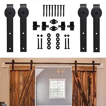 homedeco hardware 10 ft rustic sliding wood barn door rolling antique hardware flat tracks double doors