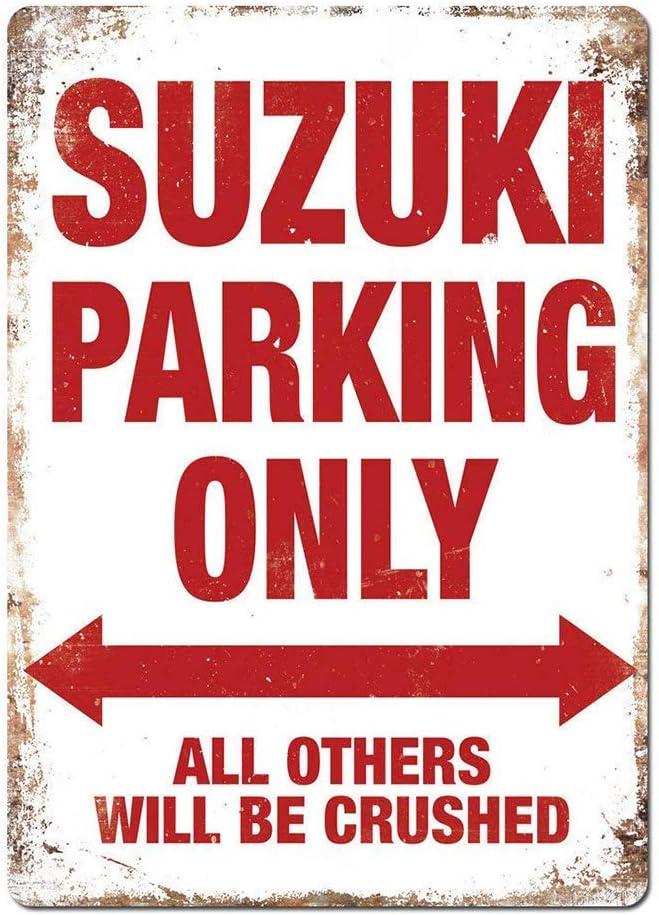 Vintage /Étain Signe Occident R/étro Plaque D/écorative Panneau pour Bar Caf/é Bureau Pub Chambre Garage Suzuki Parking Only KODY HYDE M/étal Mur Affiche