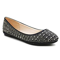 d9035abb4 Walstar Women Casual Rhinestone Glitter Mesh Slip On Ballet Flat Lightweigh  - Casual Women s Shoes