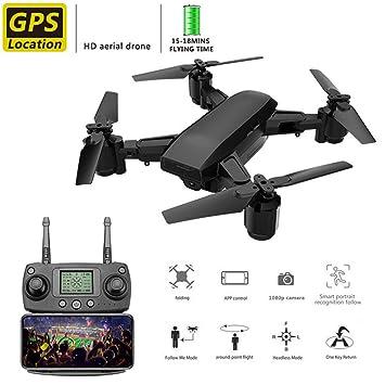 WAWTTT GPS Drone, fotografía aérea Profesional RC Drone HD, Sigue ...