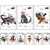 9pcs Monster Hunter Rise NFC Amiibo Card, Palamute, Palico, Magnamalo. Compatible Switch, Switch Lite. (White)