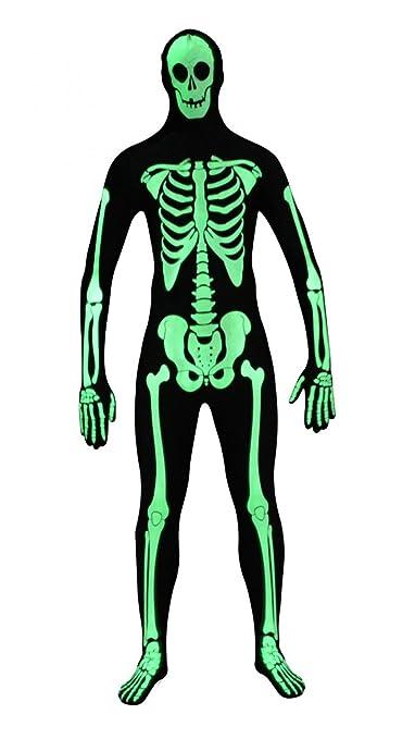 Funsuits Original FUNSUIT - Disfraz de Segunda Piel (Pegado al Cuerpo) Glow Skeleton Carnaval Halloween - Talla S / M / L / XL / XXL [S] - Varios ...