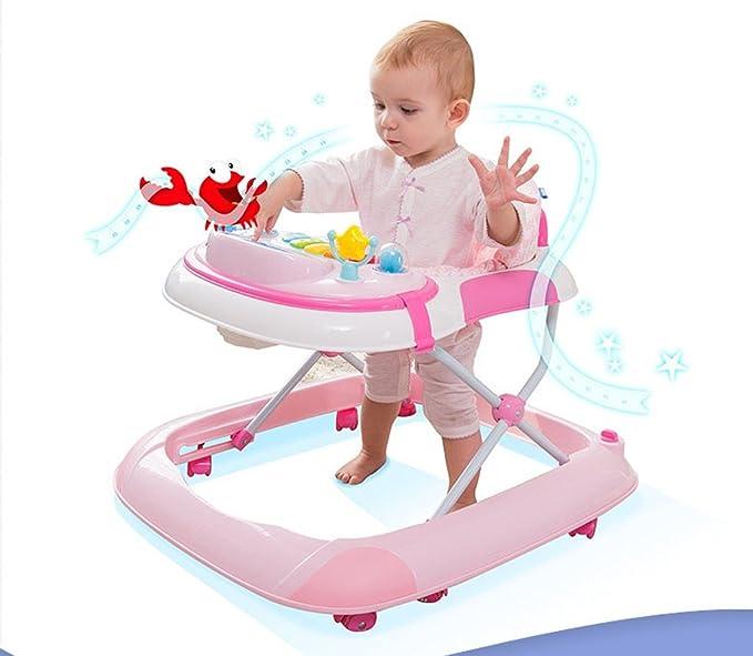 QQB &Carro Plegable Bebé Andador Puede Tocar El Piano Multifunción ...