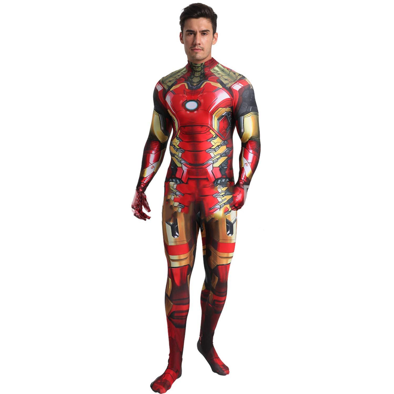 Iron Man Avengers Endgame Marvel Fancy Dress Up Halloween Deluxe Adult Costume
