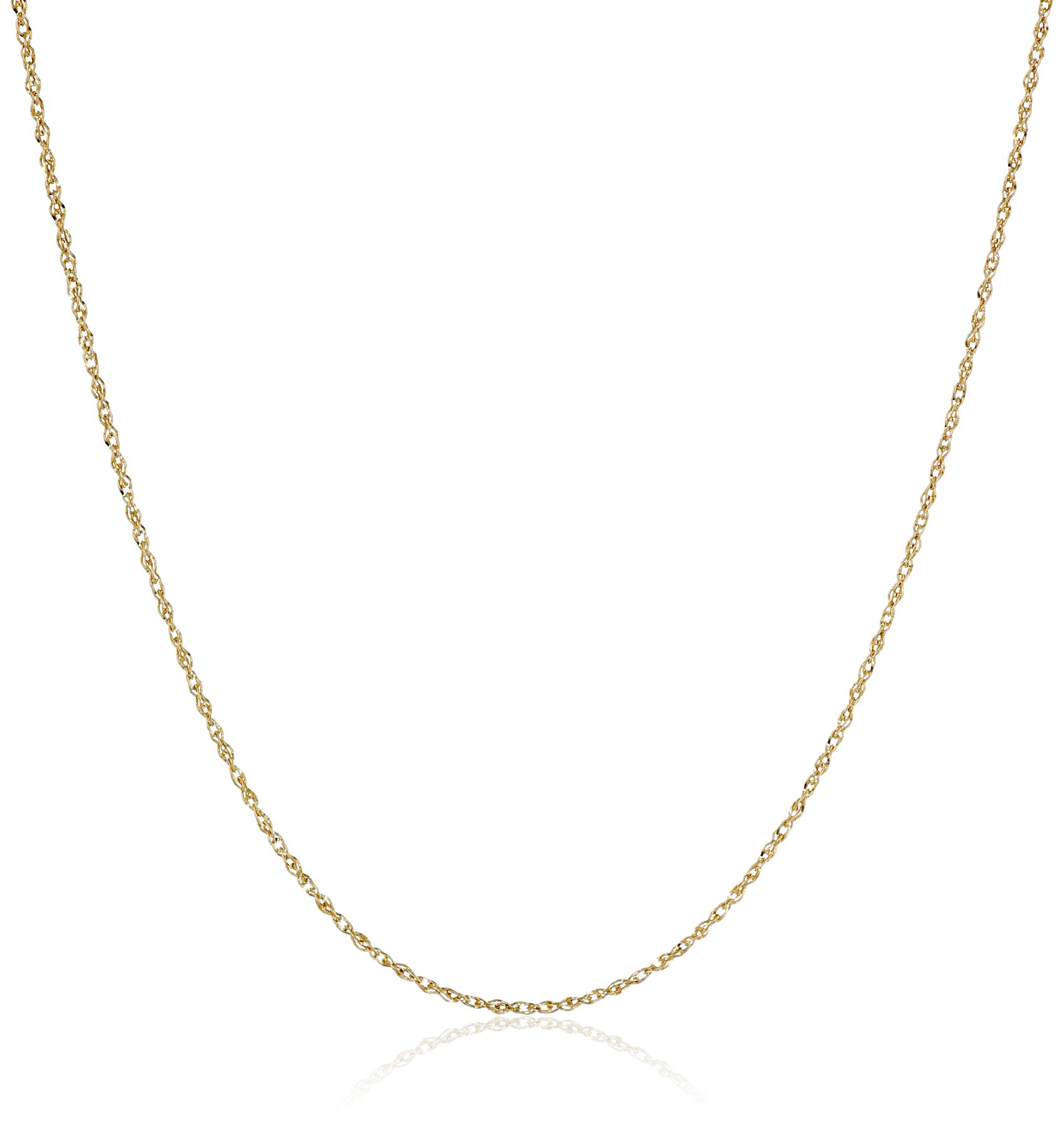 14k Yellow Gold Solid Perfectina Chain Necklace (1.0mm), 18''