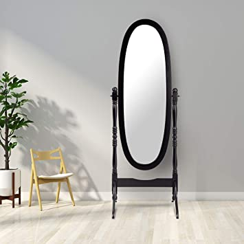 Amazoncom Giantex Bedroom Wooden Floor Mirror Full Length Cheval