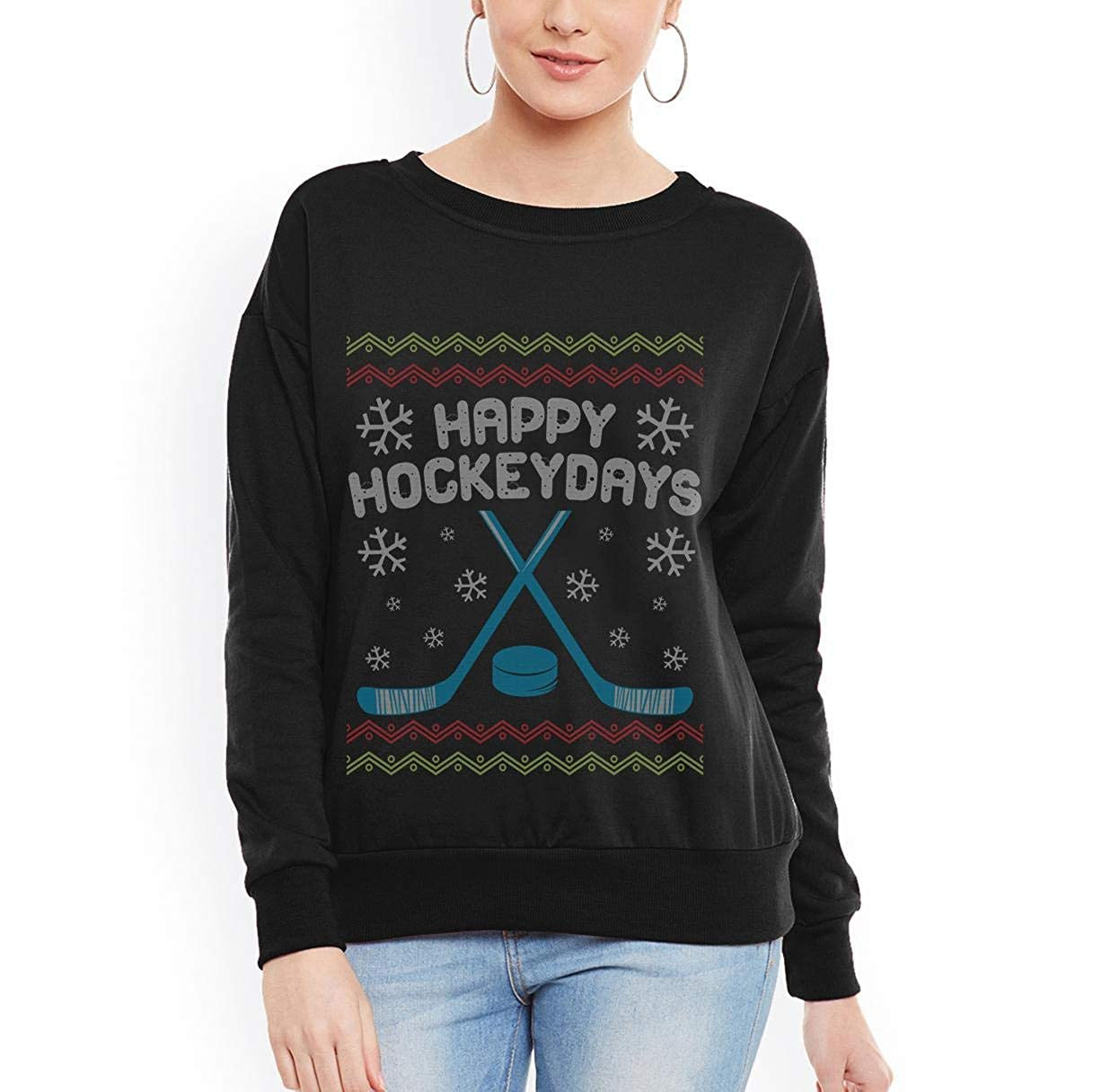 tee Doryti Happy Hockey Days Ugly Christmas Unisex Sweatshirt