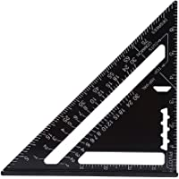 7 Inch Rafter Square Carpenter Square Aluminum Square Layout Tool with Black Oxide Finish(British System)