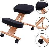 Costway Ergonomic Kneeling Chair Wooden Orthopaedic Stool Posture Frame Seat Health Care
