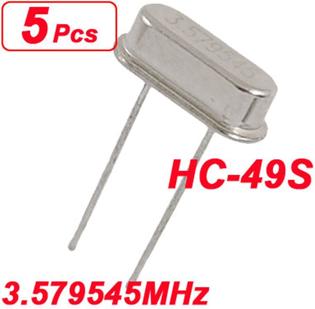 Aexit 5 x Passive Components 3.579545MHz 3.579545 MHz Crystal Crystals Oscillator HC-49S