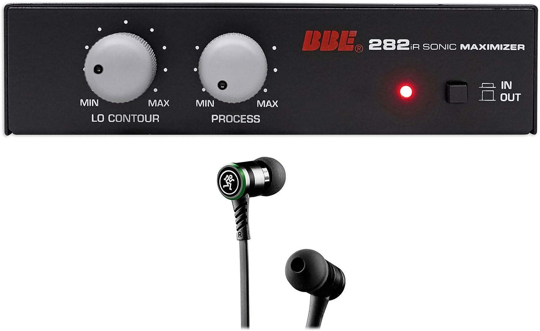 BBE 282IR Desktop Sonic Maximizer w/RCA Inputs/Outputs+Mackie Earbuds