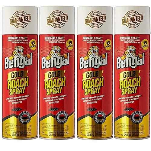 Bengal Roach Killer, 11 oz, Can, Viscous Liquid, Mild Ethereal, Spray, 4 Count