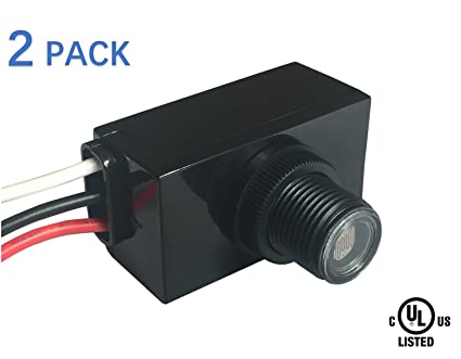 120 277vac ul cul listed photoelectric switch with photocell light rh amazon com Photocell Wiring Directions Photocell Wiring Installation