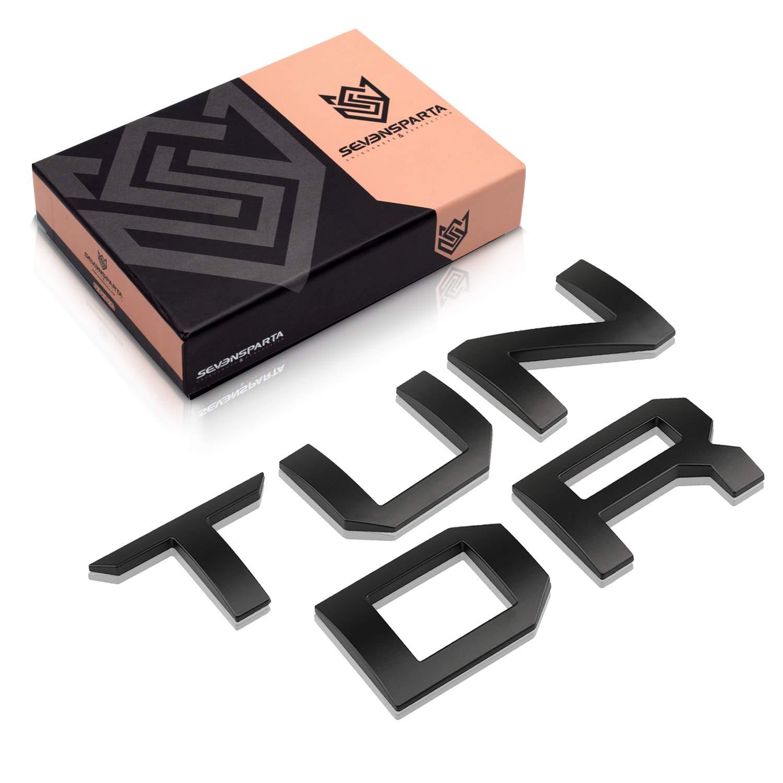 Black Seven Sparta 3D Raised Tailgate Letters for Toyota Tundra 2014-2019 Zinc Alloy Emblem Inserts