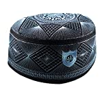 Alwee ALW007 Muslim Kufi Hat Islam Prayer Headware Men Skull Cap Ramadan Eid Gift (23 inch (58.5 cm.))