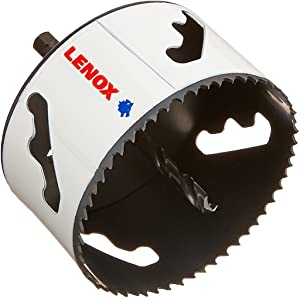 """LENOX Tools Bi-Metal Speed Slot Arbored Hole Saw with T3 Technology, 3-5/8"""""""