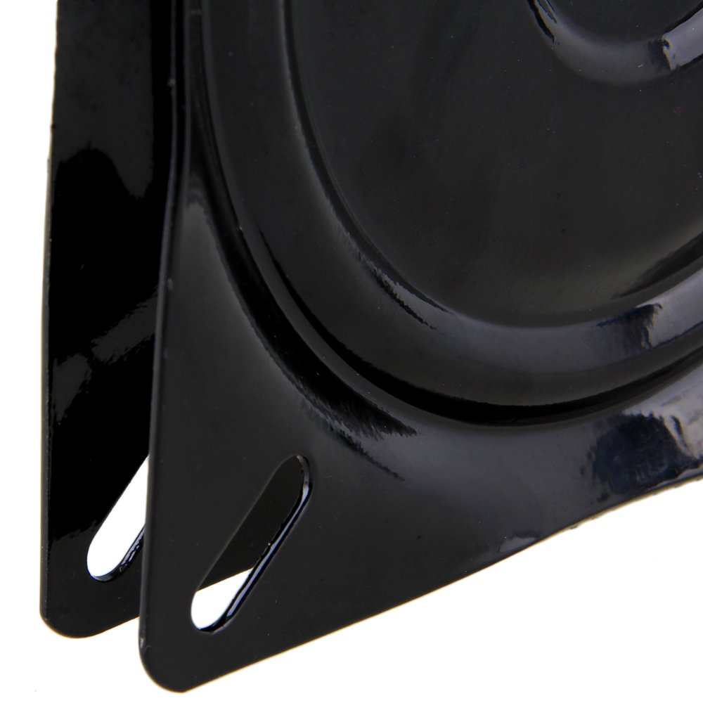 BQLZR 6 pollici A3 acciaio piatto nero cuscinetto a sfere girevole giradischi sedia girevole per sedia sgabello da bar