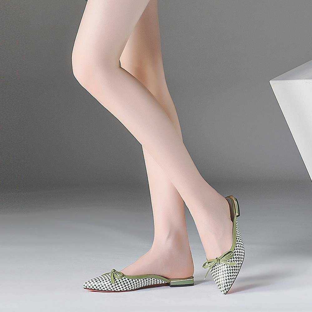 ZHWEI Damen Sandalen YH38818 YH38818 Sandalen Frühling und Sommer Sandalen Hausschuhe (Absatzhöhe 1,5 cm) Grüne Farbe 2184a4