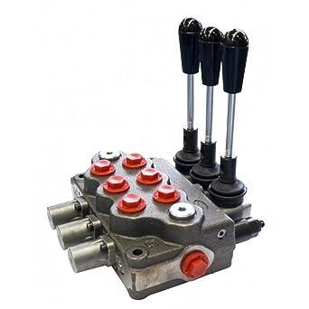 1 Válvula de carrete hidráulico Monoblock Palanca De Banco 45lpm D//Act 1//2//3//8 BSP portado