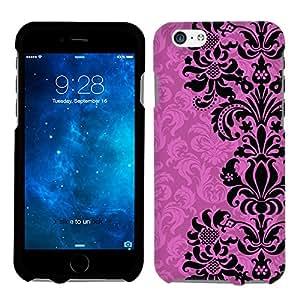 Apple iPhone 6 Black on Pink Floral Damasks Phone Case