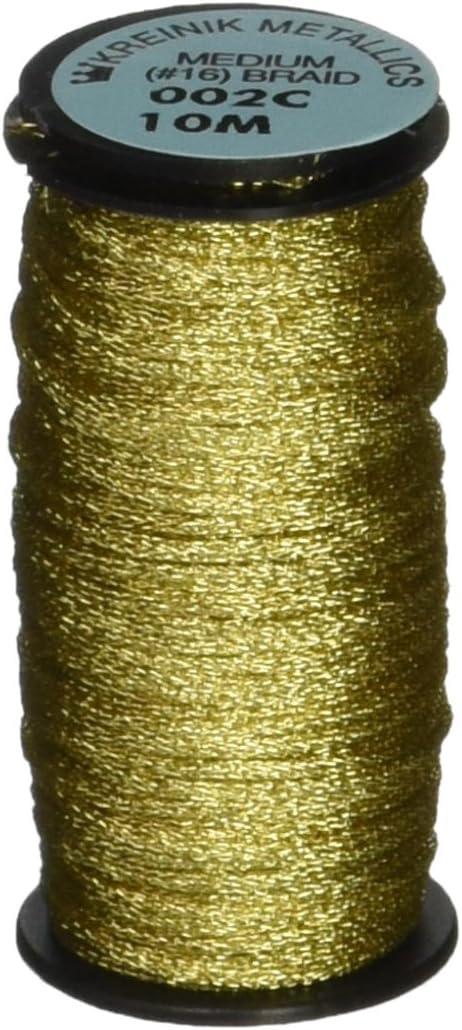 Kreinik Medium Metallic Corded Braid #16 11yd-Gold
