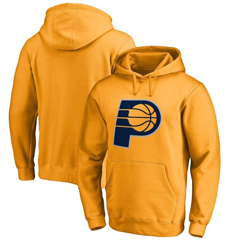 jaune Medium WSX NBA sweat à capuche Basketball Décontracté Jersey Imprimer Lettres De La Jeunesse Sweatshirt Indiana Pacers T-Shirt De Sport Lakers,jaune-L