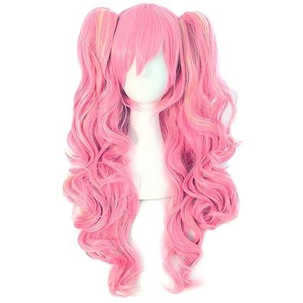Peluca Wincy Shop Lolita ondulada con dos coletas para disfraz de cosplay, peluca para fiesta