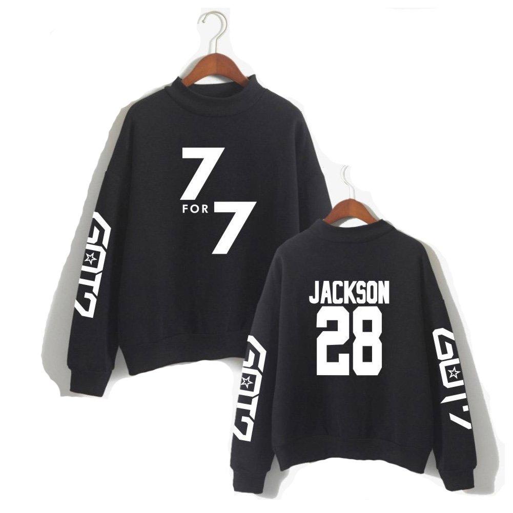 XIAOMEI - Sudadera - Suave - Manga Larga - para Mujer Jackson28 Black Small